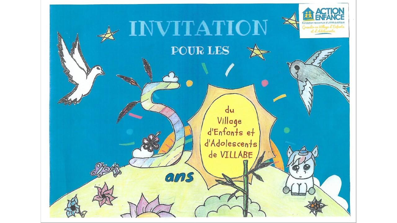 L'invitation faite à partir de dessins d'enfants