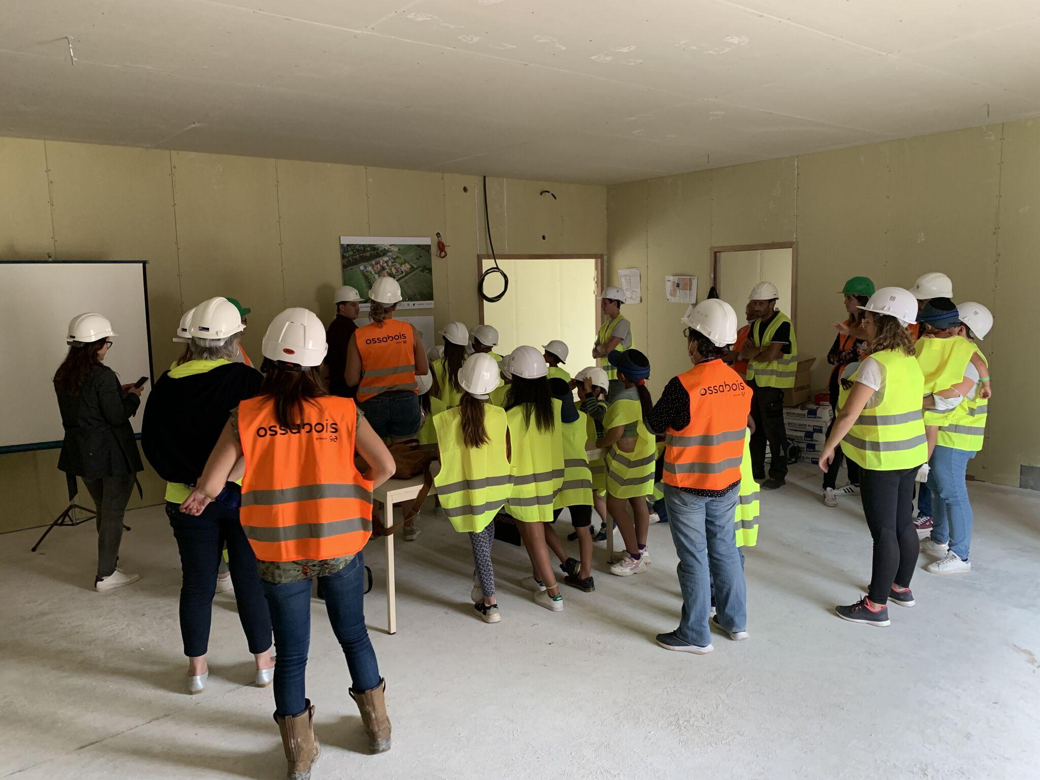 Visite du chantier de l'EcoVillage de Sablons